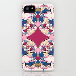 purple medalion in Persian tiles iPhone Case