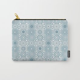 Blue Mandalas, meditative geometric pattern Carry-All Pouch