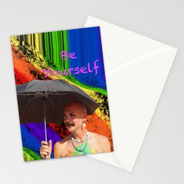 Be Yourself,Rainbow Showers Stationery Cards