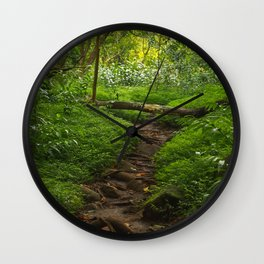Forest Haven in Iao Valley Wall Clock