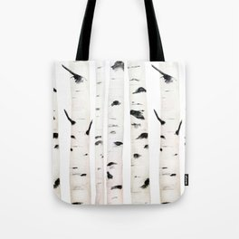 birch  watercolor Tote Bag