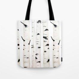 birch  watercolor Tote Bag
