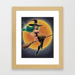 Halloween Pinup Framed Art Print