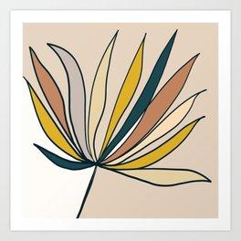 Minimal Floral #5 - Modern Art Print Art Print