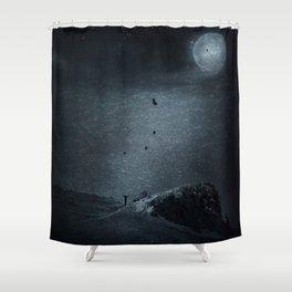 edge of always - dark blue Shower Curtain
