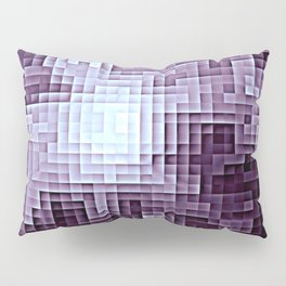 Nebula Pixels Dark Plum Purple Pillow Sham
