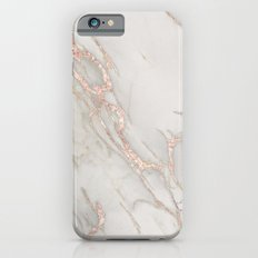 Marble Rose Gold Blush Pink Metallic by Nature Magick iPhone 6s Slim Case