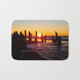 Stunning sunset through the sticks Bath Mat
