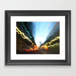 Abstract Downtown Flow - Light Painting Framed Art Print