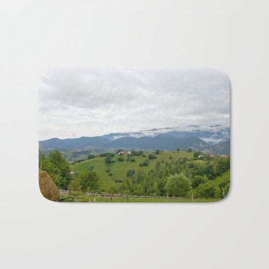 Beautiful Transylvanian mountain landscape Bath Mat