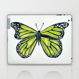 Lime Butterfly Laptop & iPad Skin
