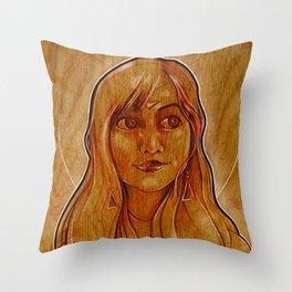 The Amber Queen Throw Pillow