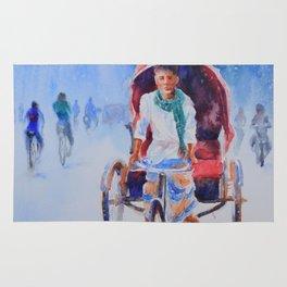 Rickshaw puller Rug