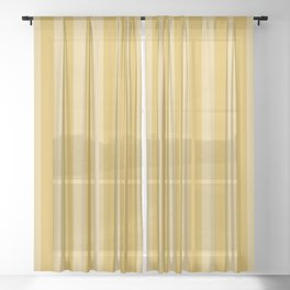 Large Two Tone Spicy Mustard Yellow Cabana Tent Stripe Sheer Curtain
