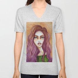 Original Watercolor Illustration by Jenny Manno Art/kara Unisex V-Neck