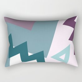 Geometric Angles (Purple, turquoise, pink) Rectangular Pillow