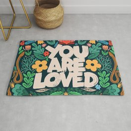you are loved - color garden Rug