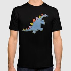 Stomp-a-saurus! Black MEDIUM Mens Fitted Tee
