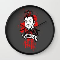 crowley Wall Clocks featuring Crowley Is Our King by Nikki Homicide