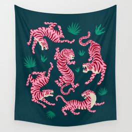 Night Race: Pink Tiger Edition Wall Tapestry