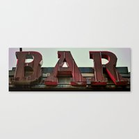 bar Canvas Prints featuring BAR by Kevin Myron