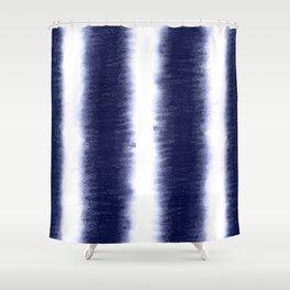 Indigo Pillars Shower Curtain