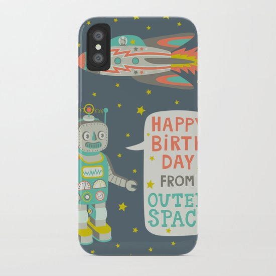 Robots from Outer space iPhone Case