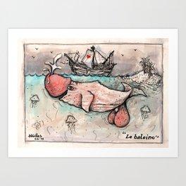 Le Baleineau Art Print