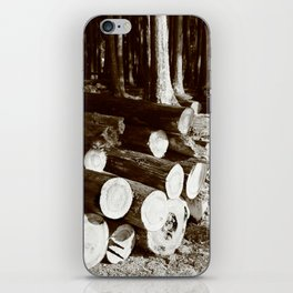 Stacked logs iPhone Skin