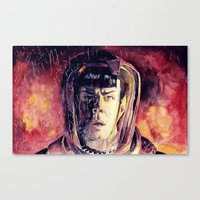 spock Canvas Prints featuring Spock  by margaw