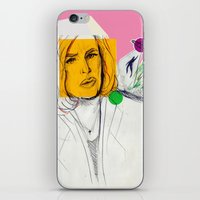 dana scully iPhone & iPod Skins featuring Dana Scully by Alyssa Taylor