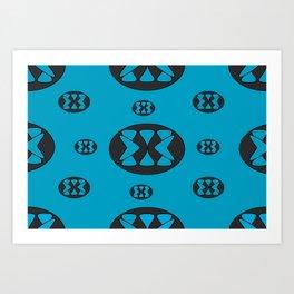 blue patterns Art Print