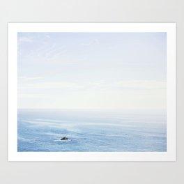 The Sea on a Sunny Day Art Print