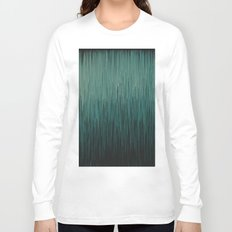 Planet Pixel Hazy Blue Long Sleeve T-shirt
