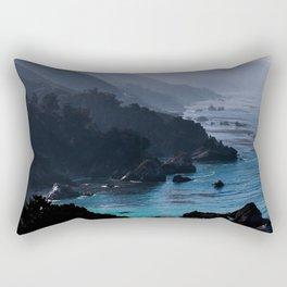 Big Sur Blue Rectangular Pillow