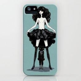 My mind wears heels iPhone Case