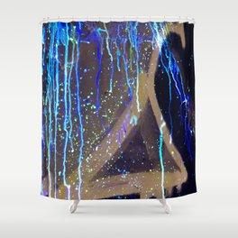 Graffiti & Glow Paint Shower Curtain