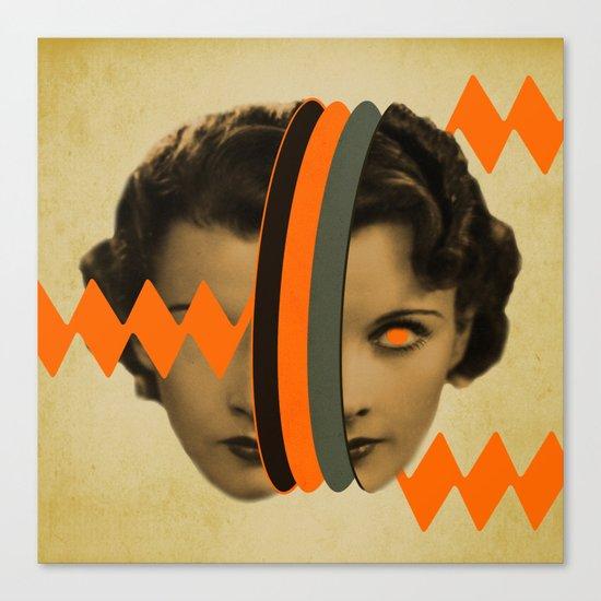 headache girl Canvas Print