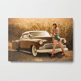 Carina & the Chevy Metal Print