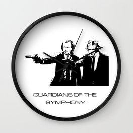 Brahms & Beethoven Guardians of the Symphony Wall Clock