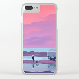 Ocean Pyramid Clear iPhone Case