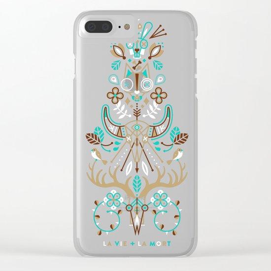 La Vie & La Mort – Navy Clear iPhone Case