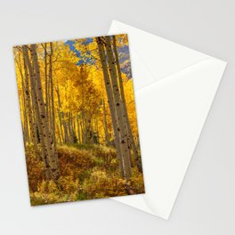 Autumn Aspen Forest in Aspen Colorado USA Stationery Cards