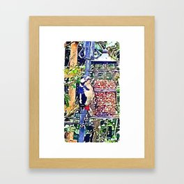 Dendrocopos major 'Great Spotted Woodpecker' Framed Art Print