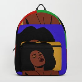 Natural Afro Pop Art Backpack