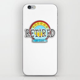 Retired at last iPhone Skin