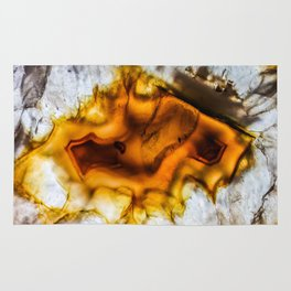 Honey Amber Agate frozen in time Rug