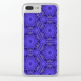 Purple Passion Pattern Clear iPhone Case