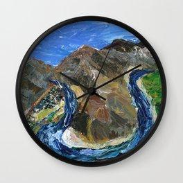 Riggins Idaho (palette knife) Wall Clock