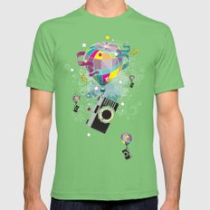 Traveling camera LARGE Grass Mens Fitted Tee